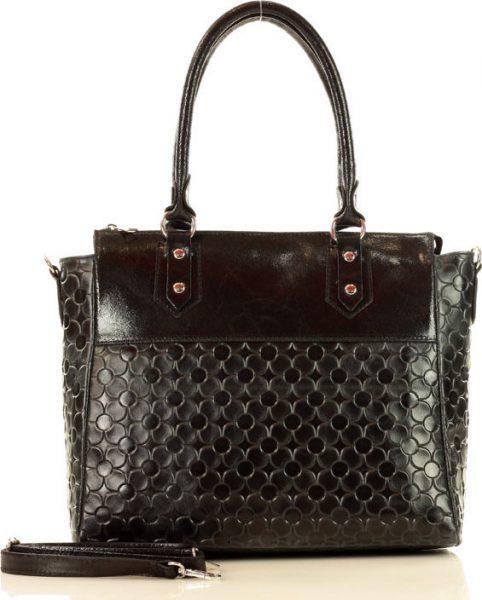MARCO MAZZINI černá shopper kabelka (389a) Velikost: univerzální