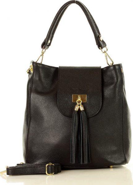 MARCO MAZZINI černá shopper kabelka (s232a) Velikost: univerzální