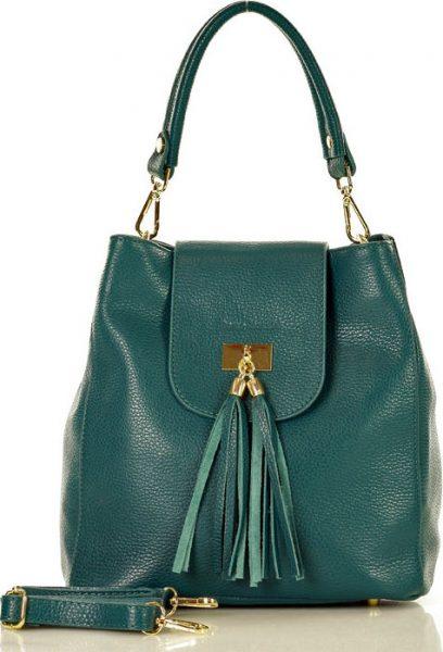 MARCO MAZZINI zelená shopper kabelka (s232d) Velikost: univerzální