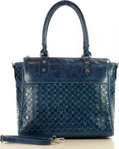 MARCO MAZZINI modrá shopper kabelka (389b) Velikost: univerzální