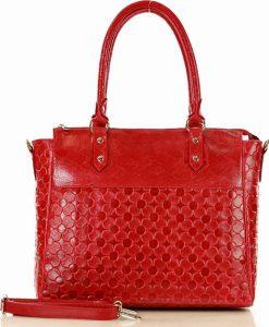 MARCO MAZZINI červená shopper kabelka (389d) Velikost: univerzální