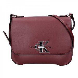 Dámská crossbody kabelka Calvin Klein Nikol – vínová