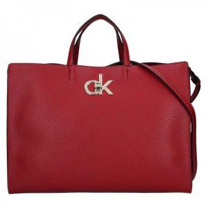 Dámská kabelka Calvin Klein Edisa – vínová