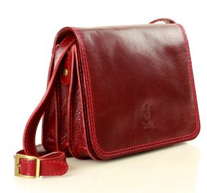 MARCO MAZZINI červená crossbody kabelka (l178d) Velikost: univerzální