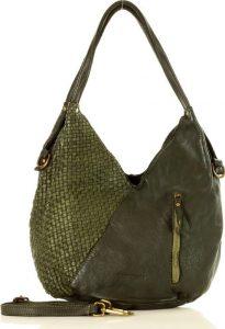 MARCO MAZZINI zelená kožená kabelka (V29h) Velikost: univerzální