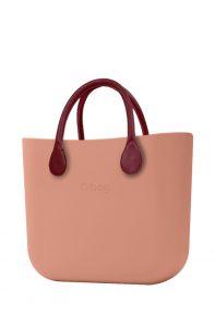 O bag kabelka MINI Phard s bordovými krátkými koženkovými držadly