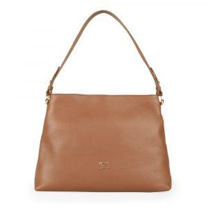 Elega by Dana M Dámská kožená kabelka přes rameno Maternity 69447 – karamel