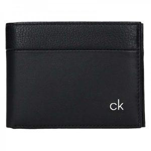 Pánská kožená peněženka Calvin Klein Dominic – černá