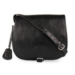Sněžka Náchod Dámská kožená crossbody kabelka 5065 – černá