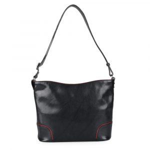 Hajn Dámská kožená kabelka 1269015 – černo-červená