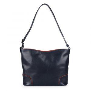 Hajn Dámská kožená kabelka 1269015 – modro-hnědá