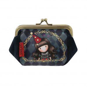 Santoro modrá malá peněženka Gorjuss Circus Harlequin