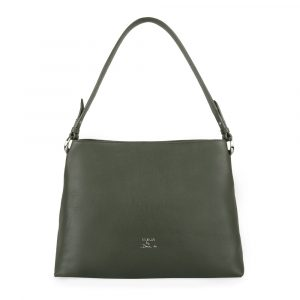 Elega by Dana M Dámská kožená kabelka přes rameno Maternity 69447 – zelená