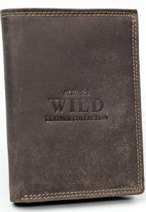 Always Wild kožená peněženka RFID (N4-MHU BROWN) Velikost: univerzální