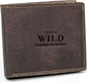 Always Wild kožená peněženka RFID (N992-MHU BROWN) Velikost: univerzální