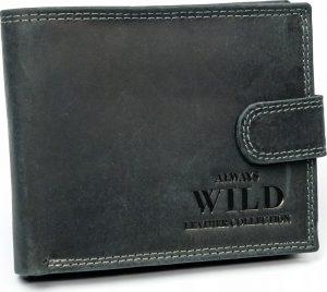 Always Wild kožená peněženka RFID (N992L-MHU BLACK) Velikost: univerzální