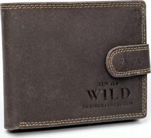 Always Wild kožená peněženka RFID (N992L-MHU BROWN) Velikost: univerzální