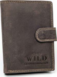 Always Wild kožená peněženka RFID (N890L-MHU BROWN) Velikost: univerzální