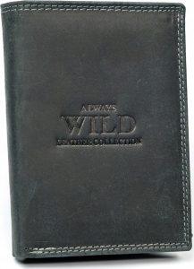 Always Wild kožená peněženka RFID (N890-MHU BLACK) Velikost: univerzální