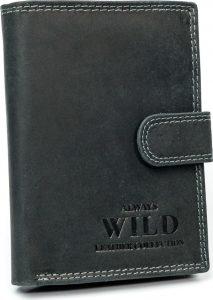 Always Wild kožená peněženka RFID (D1072L-MHU BLACK) Velikost: univerzální