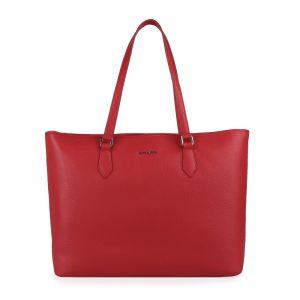 GALKO Dámská kožená kabelka přes rameno 13-0562 – červená