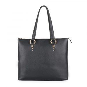 Elega by Dana M Dámská velká shopper kabelka přes rameno Maternity 69452 – černá