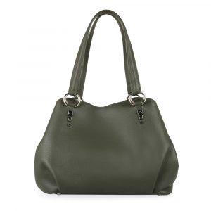 Elega by Dana M Dámská kožená kabelka přes rameno Maternity 69448 – zelená
