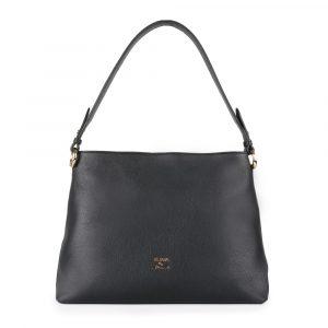 Elega by Dana M Dámská kožená kabelka přes rameno Maternity 69447 – černá