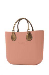 O bag kabelka MINI Phard s krátkými koženkovými držadly Bronzo
