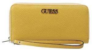 Guess Dámská peněženka Alby Slg Large Zip Around Yellow-Yel