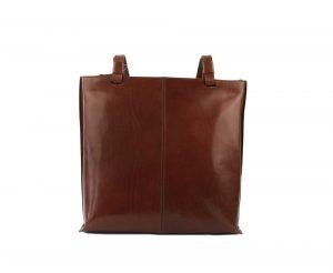 Elega Dámská kožená kabelka přes rameno 67905 – hnědá