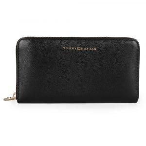 Tommy Hilfiger Dámská kožená peněženka Elevated Large AW0AW07134 – černá