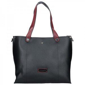 Dámská kabelka Pierre Cardin Apolen – černo-vínová