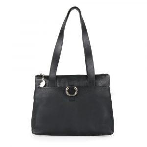Elega Dámská kabelka přes rameno Alisa 69417 – černá/stříbro