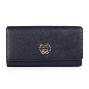Tommy Hilfiger Dámská peněženka SM Large AW0AW07127 – tmavě modrá