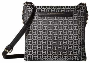 Tommy Hilfiger Dámská crossbody kabelka Women`s Holborn Monogram North/South Crossbody Black/White