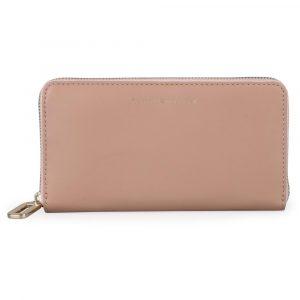 Tommy Hilfiger Dámská kožená peněženka Soft Turnlock Large AW0AW07124 – starorůžová