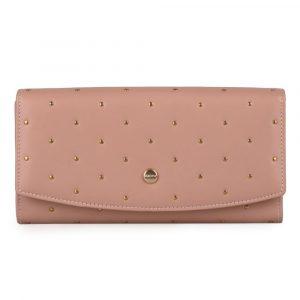 Giudi Dámská kožená peněženka 6541/BU/RI/Q – starorůžová