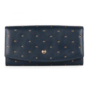 Giudi Dámská kožená peněženka 6541/BU/RI/Q – tmavě modrá