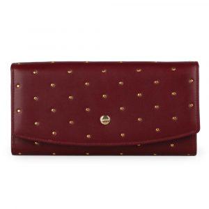Giudi Dámská kožená peněženka 6541/BU/RI/Q – vínová