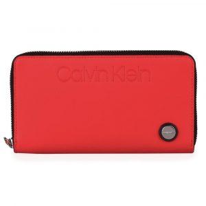 Calvin Klein Dámská velká peněženka Attached K60K605678 – červená