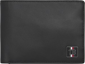 Tommy Hilfiger Pánská peněženka Th Plaque Extra Cc And Coin Black