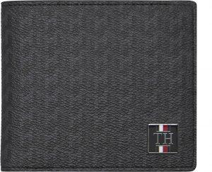 Tommy Hilfiger Pánská peněženka Th Plaque Mono Mini Cc Wallet Monogram