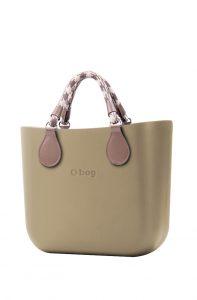 O bag kabelka MINI Sabbia s krátkými lanovými držadly Tortora