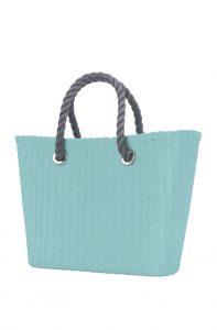 O bag Urban kabelka MINI Turchese s šedými krátkými provazovými držadly