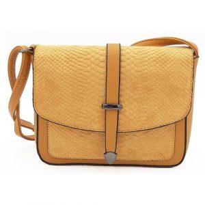 Dámská kabelka listonoška ve žluté barvě
