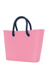O bag Urban kabelka MINI Pink s tmavě modrými krátkými provazy