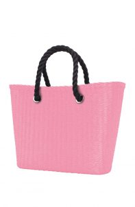 O bag Urban kabelka MINI Pink s černými krátkými provazy