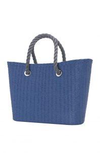 O bag Urban kabelka MINI Cobalto s šedými krátkými provazy