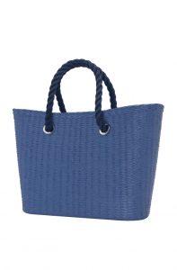 O bag Urban kabelka MINI Cobalto s tmavě modrými krátkými provazy